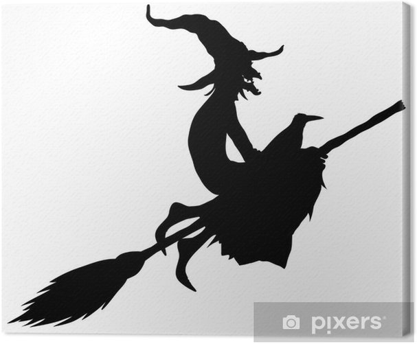Obraz na płótnie Sylwetka witch halloween - Święta międzynarodowe