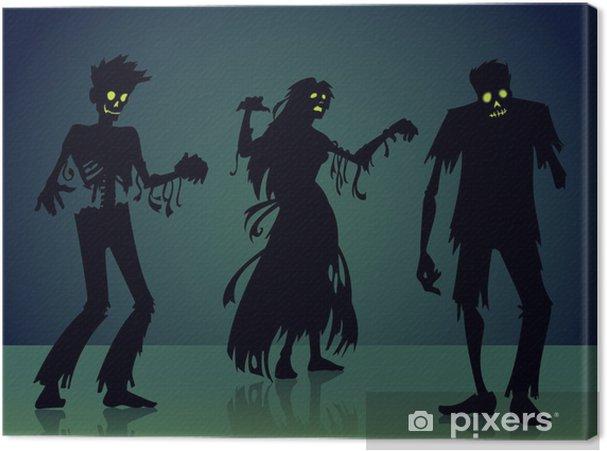 Obraz na płótnie Sylwetka Zombie - Życie