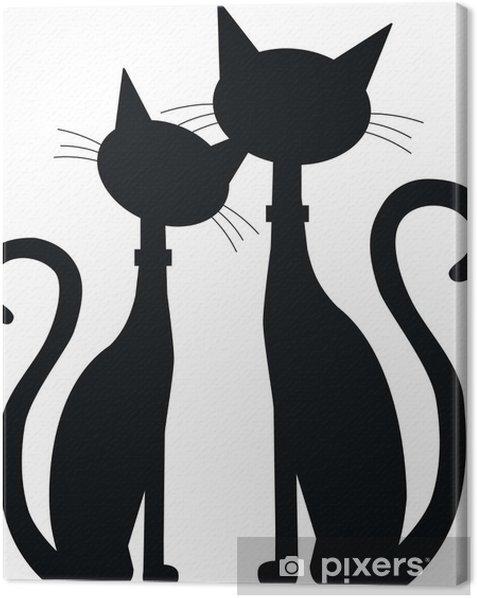 Obraz na płótnie Sylwetki dwóch kotów - Przeznaczenia