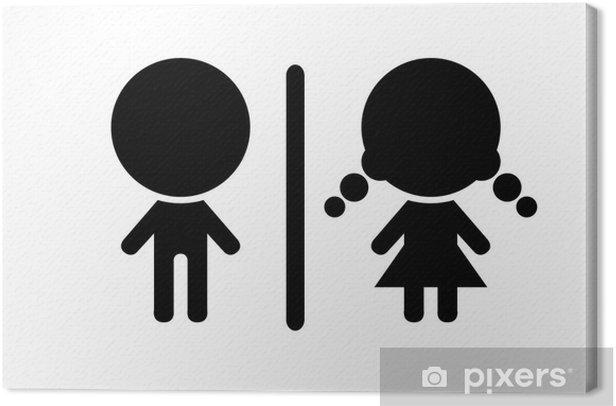 Obraz na płótnie Symbol WC, ilustracji wektorowych - Znaki i symbole