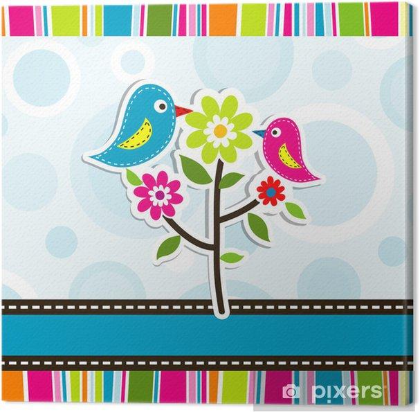 Obraz na płótnie Szablon karty z pozdrowieniami, wektor - Święta Narodowe