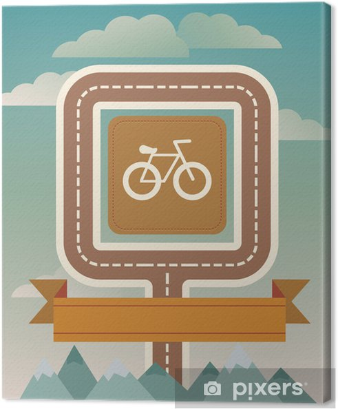 Obraz na płótnie Szablon Vector z roweru i drogi - Tła