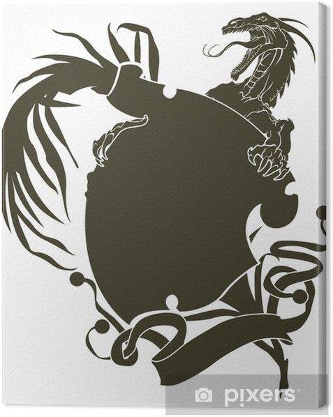 Obraz na płótnie Szablony smoki tatuaż i projektowania - Fikcyjne zwierzęta