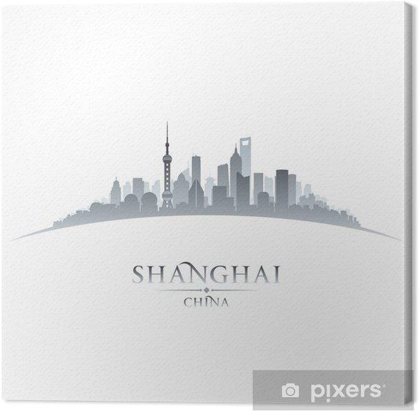 Obraz na płótnie Szanghaj Chiny miasta skyline sylwetka bieli - Miasta azjatyckie