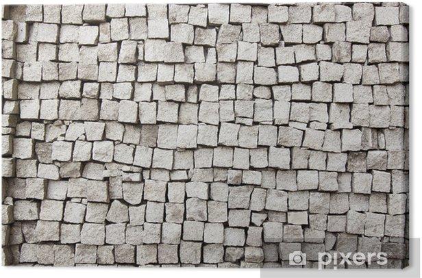 Obraz na płótnie Szara cegła - Tekstury