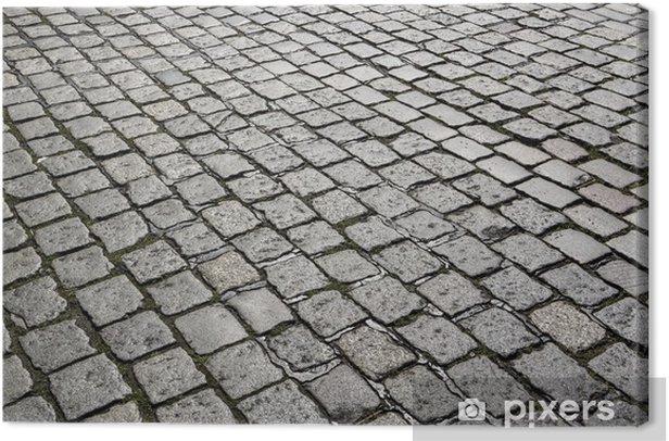 Obraz na płótnie Szczegół Cobble Stone Street daje harmoniczny wzorzec - Europa