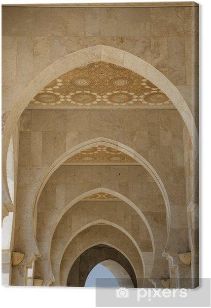 Obraz na płótnie Szczegół z meczetu Hassana II w Casablance - Afryka