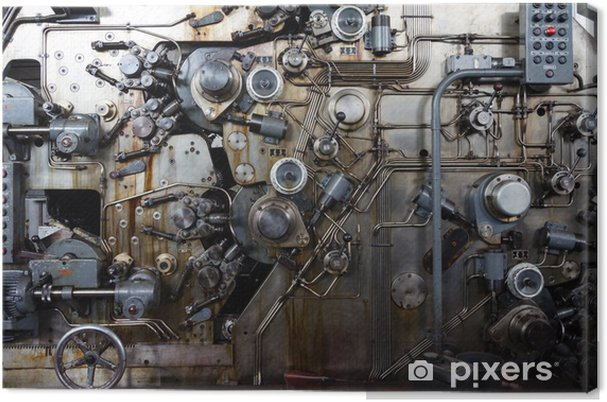 Obraz na płótnie Szczegół zardzewiały maszyny - Tekstury