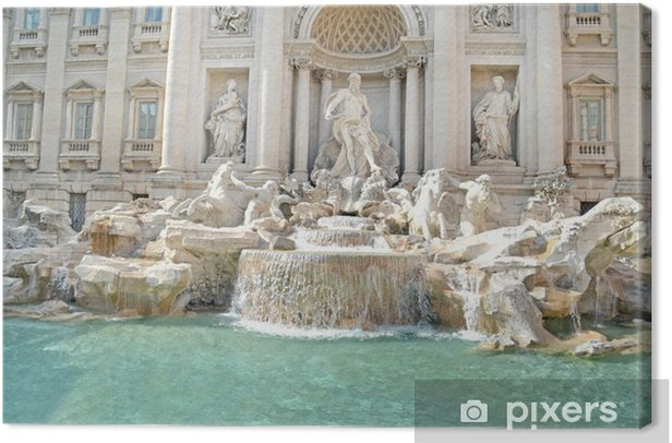 Obraz na płótnie Szczegóły Fontanna di Trevi Rzym Włochy - Europa