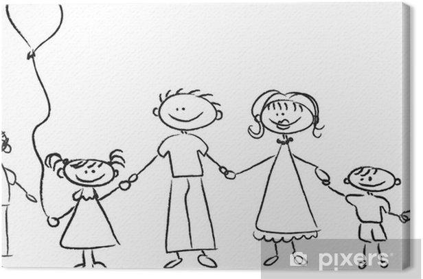 Obraz na płótnie Szczęśliwa rodzina trzymając się za ręce - Wartości rodzinne