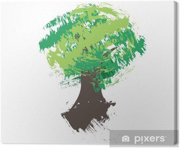 Obraz na płótnie Szkic drzewa Grungy - Drzewa