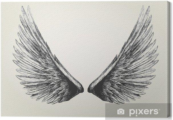 Obraz na płótnie Szkic ilustracji skrzydeł - Fikcyjne zwierzęta