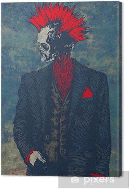 Obraz na płótnie Szkielet punk - Inne uczucia