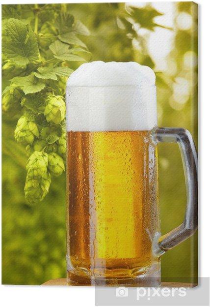 Obraz na płótnie Szklanka piwa - Alkohol