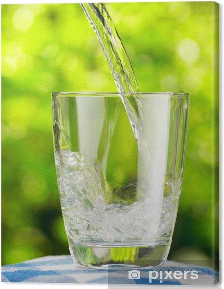 Obraz na płótnie Szklanka wody na tle przyrody - Posiłki