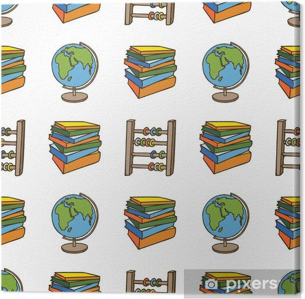 Obraz na płótnie Szkoła doodle bez szwu tupot - Edukacja