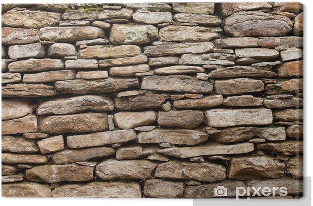 Obraz na płótnie Szorstki mur z kamieni dużych i małych - Tekstury