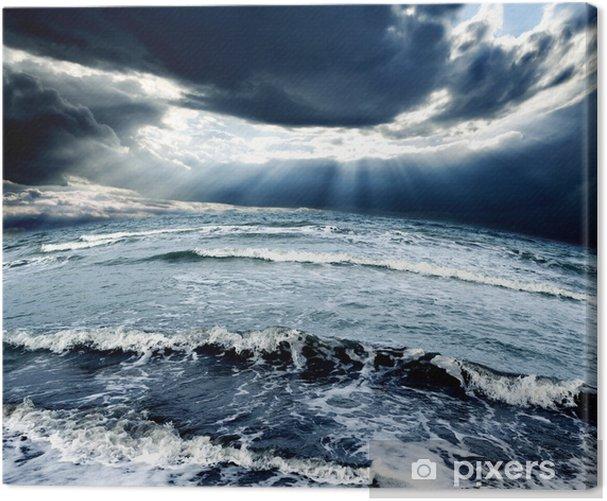Obraz na płótnie Sztorm na oceanie - Klęski żywiołowe