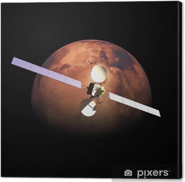 Obraz na płótnie Sztuczna orbicie Czerwonej Planety sondy Mars powyżej - Transport powietrzny