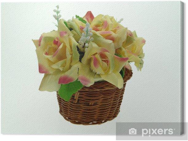 Obraz na płótnie Sztuczny bukiet - Kwiaty