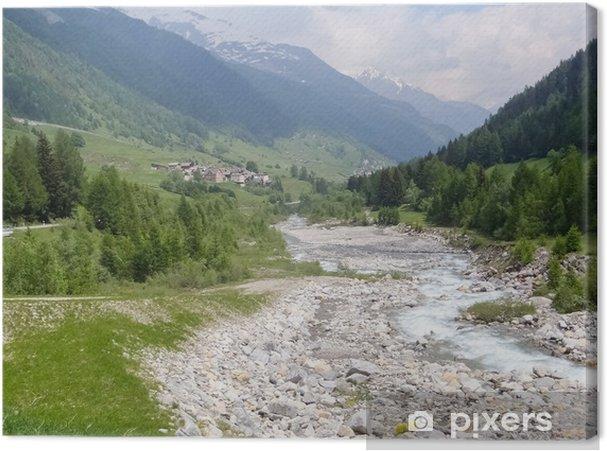 Obraz na płótnie Szwajcaria 2013 - wycieczka alpejskie przechodzi - Wakacje