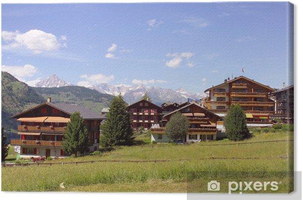 Obraz na płótnie Szwajcarska wioska górska - Europa