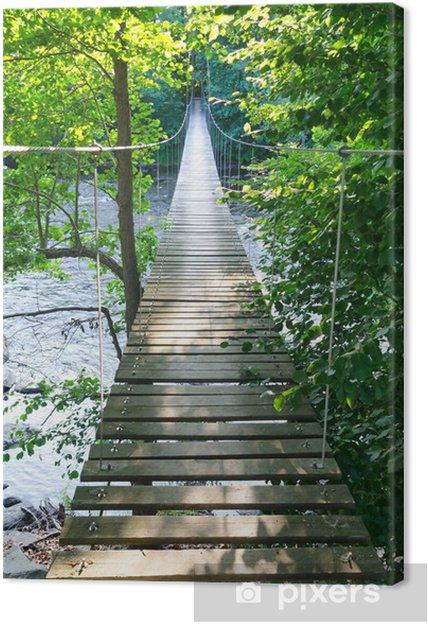 Obraz na płótnie Szwedzki wiszący most nad rzeką MÖRRUM - Tematy