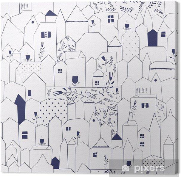Obraz na płótnie Szwu. miasta rysunek w stylu vintage. - Style