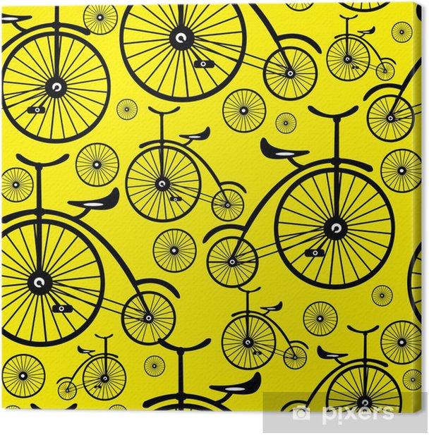 Obraz na płótnie Szwu retro rower - Przeznaczenia