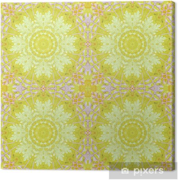 Obraz na płótnie Szwu z kolorowych liści - Sztuka i twórczość