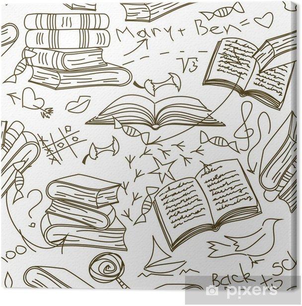 Obraz na płótnie Szwu z książek i bazgroły dzieci - Edukacja