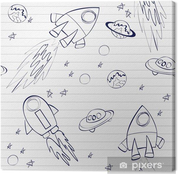 Obraz na płótnie Szwu z rakiet w kosmosie - Transport powietrzny
