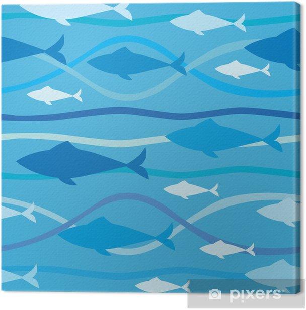 Obraz na płótnie Szwu z rybami - Tematy