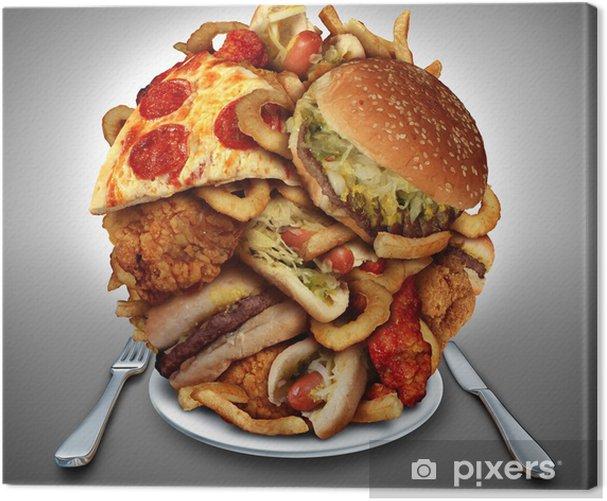 Obraz na płótnie Szybka dieta jedzenie - Tematy