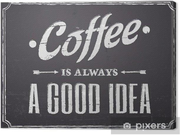 Obraz na płótnie Tablica projekt kawy - Style
