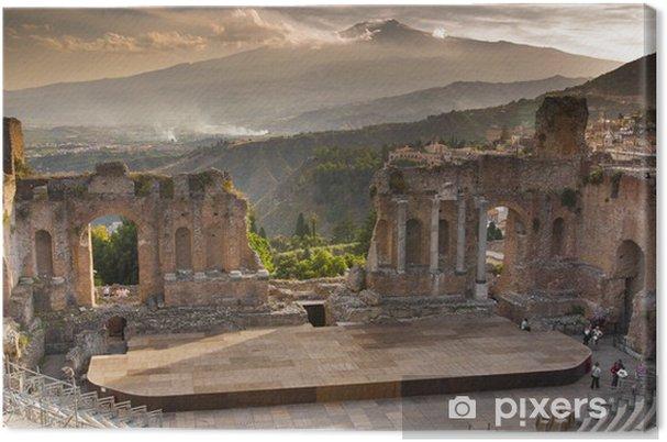 Obraz na płótnie Taormina grecki teatr widok - Zabytki
