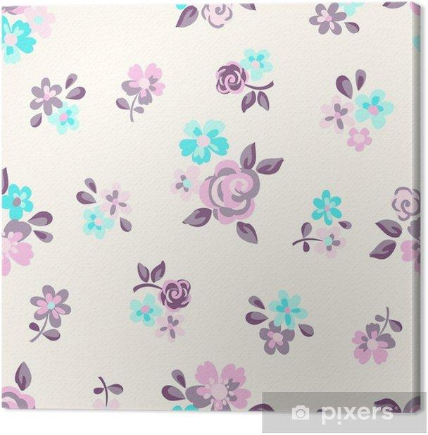 Obraz na płótnie Tapeta bezszwowe kwiatki - Rośliny i kwiaty