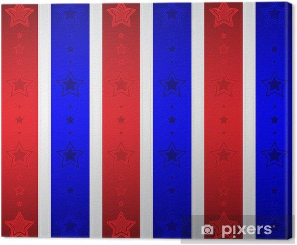 Obraz na płótnie Tapety patriotyczne gwiazdek - Święta Narodowe