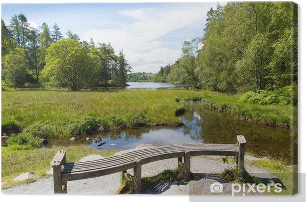 Obraz na płótnie Tarn Hows pobliżu Hawkshead Lake District National Park w Anglii - Woda