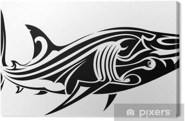 Obraz na płótnie Tatuaż shark - Naklejki na ścianę