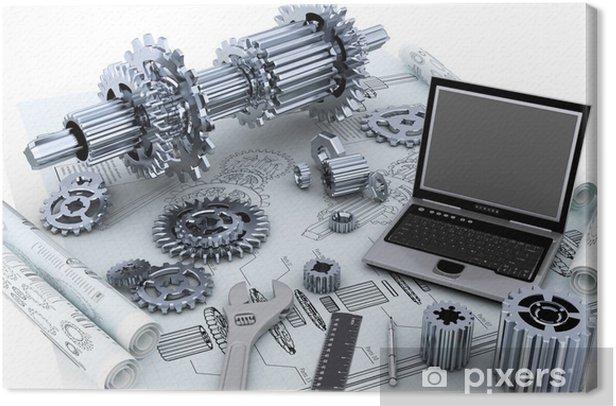 Obraz na płótnie Technologia inżynieria mechaniczna koncepcja - Maszyny
