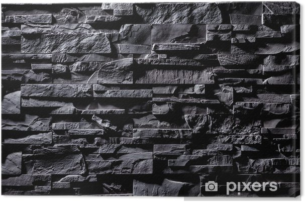 Obraz na płótnie Tekstura szarym kamiennym murem - Tematy