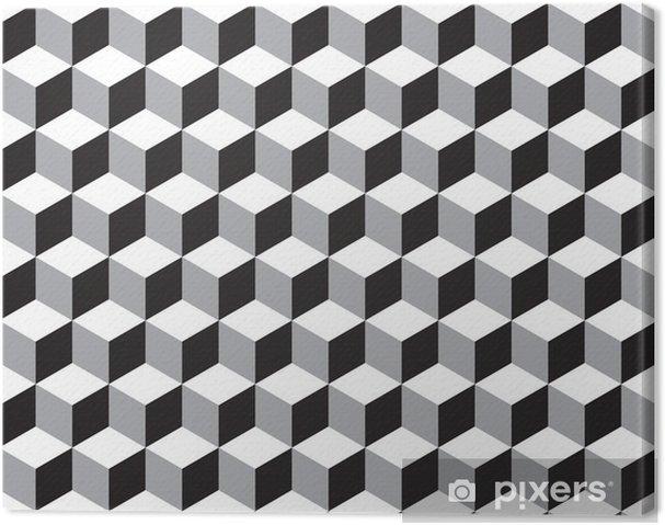 Obraz na płótnie Tekstury bez szwu wzór geometryczny kostki - Tła