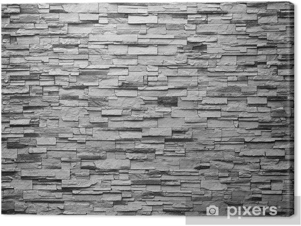 Obraz na płótnie Tekstury na tle kamiennego muru - Tekstury