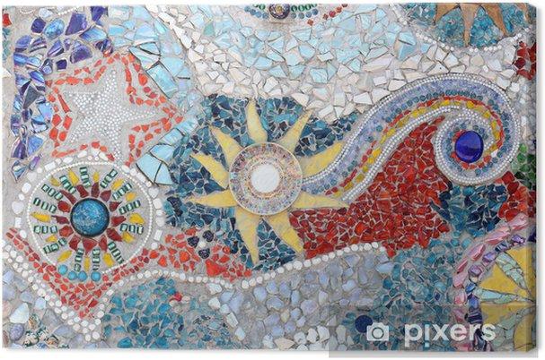 Obraz na płótnie Tekstury ściany z ceramiki - Tekstury