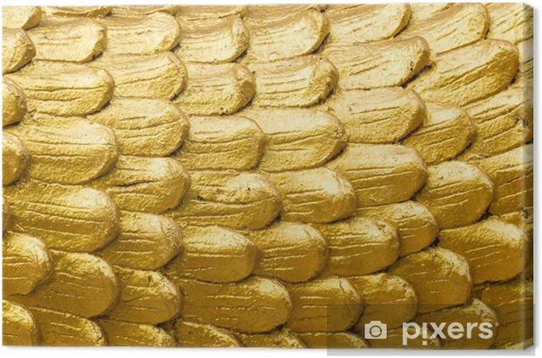 Obraz na płótnie Tekstury skóry Złoty Smok - Tła