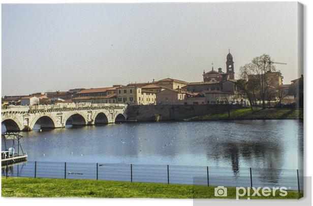 Obraz na płótnie Tiberius panorama most Rimini Włochy - Wakacje