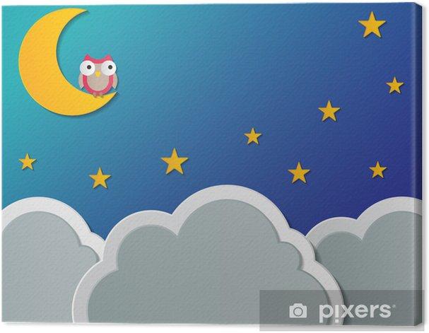 Obraz na płótnie Tle nocnego nieba - Niebo