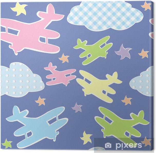Obraz na płótnie Tło dla dzieci z zabawki samolotów - Dla przedszkolaka