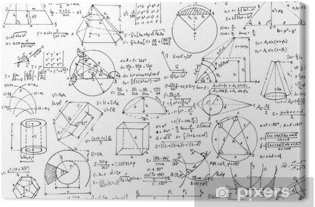 Obraz na płótnie Tło geometria - Nauki stosowane i ścisłe